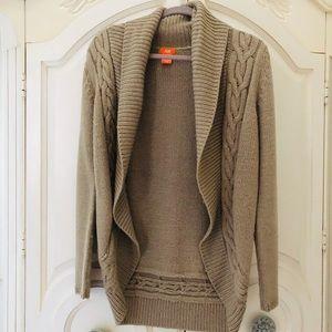 Joe Fresh beige/tan cardigan sweater